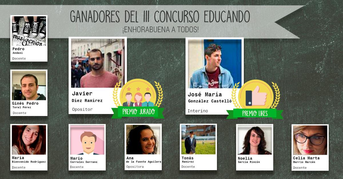 Ganadores del Concurso Educando 2019